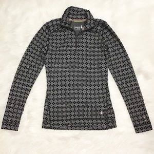 Smartwool Base Layer 3/4 Zip Pattern Sweater
